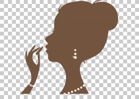 女卡通,鼻子,颈部,头部,口红,化妆品,女人,女性,剪影,