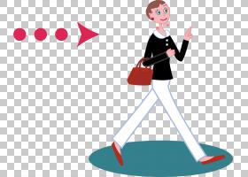 女箭,红色,男性,线路,关节,行走,箭头,女人,