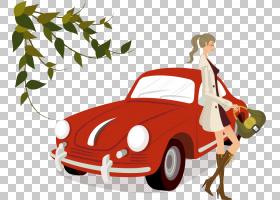 经典汽车背景,老爷车,车辆,模型车,紧凑型轿车,老爷车,卡通,孩子,