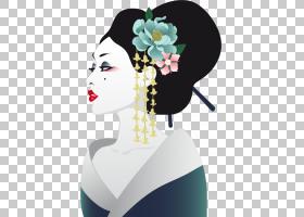 花卉设计,花,花卉设计,肖像,海报,女人,亚洲艺术,日本绘画,日本艺