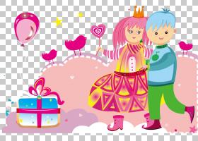 女卡通,蹒跚学步的孩子,播放,孩子,玩偶,玩具,粉红色,女人,卡通,