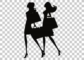 女卡通,黑白,黑色,关节,绅士,服装,可持续时尚,女人,卡通,绘图,时
