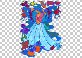 花卉设计,机翼,服装,女人,卡通,对称性,花,服装设计,