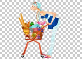 购物车,服装,线路,网上购物,女人,动画,卡通,绘图,购物车,购物,