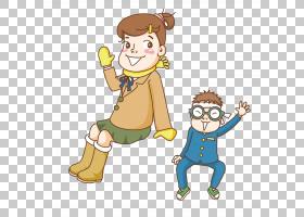 教师卡通,吉祥物,幸福,男性,手指,手,播放,男孩,拇指,蹒跚学步的