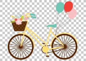 自行车卡通,轮子,轮辋,贴纸,体育器材,自行车设备和用品,自行车篮