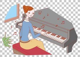 钢琴卡通,技术,键盘,乐器,钢琴家,女人,Interpreacacixf3音乐剧,