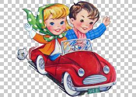 儿童卡通,蹒跚学步的孩子,汽车,玩具,画家,女人,卡通,问候,瓦尔・
