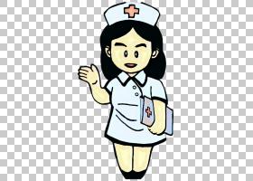 国际护士日,微笑,手势,高兴,拇指,手指,女人,日本卡通,孩子,子宫
