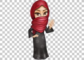 头巾卡通,服装,手指,头部,脸,头巾,绘图,阿拉伯人,女性,模型图纸,