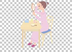 女卡通,家具,家庭作业,蹒跚学步的孩子,椅子,表,孩子,纸张,播放,