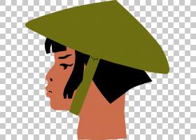 女卡通,帽子,头盔,帽,亚洲圆锥帽,女人,卡通,亚洲,