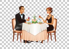 女卡通,椅子,公共关系,餐具,对话,沟通,家具,表,女人,卡通,晚餐,