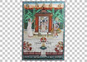 简玛什塔米神话,挂毯,微型,月,两周,Curiokat,Pichhwai,印度神话,