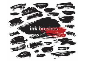 创意水墨墨痕笔痕笔刷素材