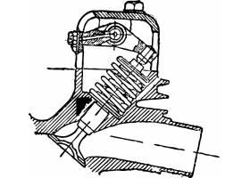 复古单色摩托车避震配件装饰插画