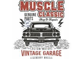复古个性汽车主题标签设计