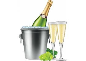 香槟美酒主题装饰插画设计
