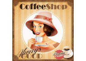 创意咖啡主题装饰插画设计