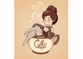 创意手绘咖啡主题装饰插画设计