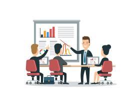 商务会议主题插画设计