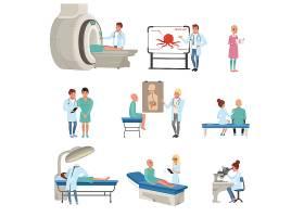 人体体检与医疗卫生主题插画设计