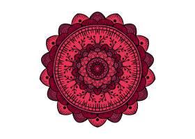 创意圆形曼陀罗主题装饰花纹设计