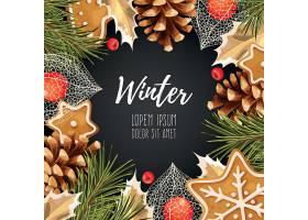新年快乐圣诞快乐圣诞节装饰冬季标签设计