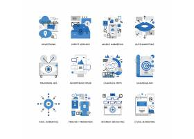 创意多款线条简洁的沟通与交流主题图标UI设计