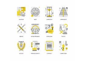 创意多款线条简洁主题图标UI设计