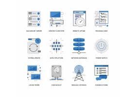 创意多款线条简洁信息通信主题图标UI设计