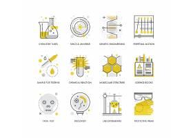 创意多款线条简洁化学科研主题图标UI设计
