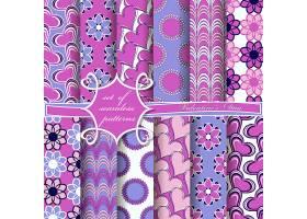 紫色创意花卉主题装饰底纹背景设计