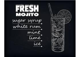 单色手绘冷饮果汁饮料瓶杯子插画设计
