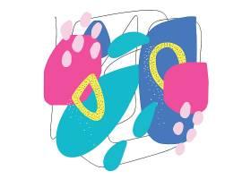 抽象的色彩涂鸦装饰背景设计
