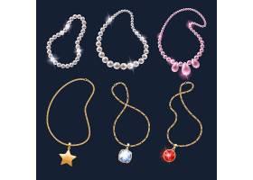 创意精致的珠宝首饰物品展示矢量素材