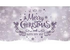 手写个性圣诞节平安夜主题装饰标签背景设计