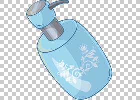 水卡通,饮具,水,水,液体,蓝色,艺术品,精油,剪影,瓶子,卡通,洗发