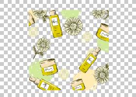 礼品卡通,线路,黄色,面积,礼物,皮肤护理,保湿霜,拉梅尔,绘图,乳