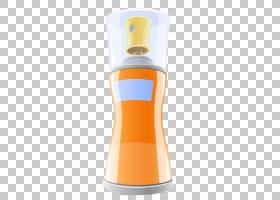 背景橙,橙色,香水,卡通,气溶胶喷雾,化妆品,除臭剂,瓶子,