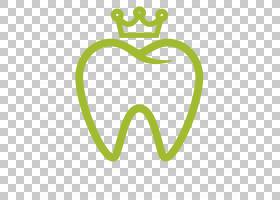 医学卡通,符号,线路,徽标,绿色,黄色,眼镜,身体首饰,牙科手术,嘴,