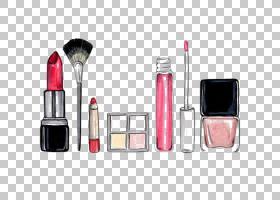 铅笔卡通,健康美容,光泽,时尚,铅笔,指甲油,眼线,Mac化妆品,美,口