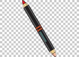 铅笔卡通,办公用品,圆珠笔,彩色铅笔,颜色,动画,卡通,眼线,眼影,