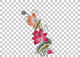 黑白花,插花,花,传粉者,植物群,花瓣,叶,红色,苏州丝绸手绣艺术,