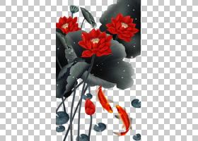 水彩花卉背景,红色,花卉,春天,花卉设计,花瓣,植物群,植物,水彩画
