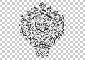 黑白花,圆,符号,花卉设计,树,面积,线路,视觉艺术,对称性,植物群,