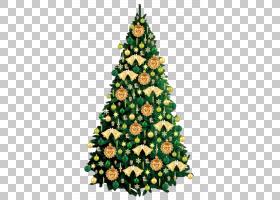 快乐家庭卡通,圣诞节,云杉,针叶树,圣诞树,节日装饰品,装饰,松树,图片