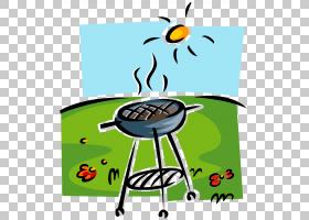 家庭卡通,家具,卡通,线路,表,植物,绿色,娱乐,面积,椅子,家庭烧烤