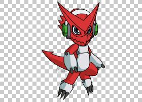Shoutmon Red,尾巴,机翼,线路,红色,Digimon融合,卡通,王室,性格,
