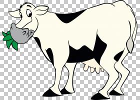 卡通绵羊,牧场,尾巴,黑白,牛,泽布,动物形象,口吻,公牛,喇叭,家畜